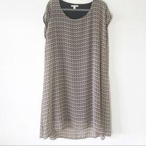 Dana Buchman Flowy Lined Dress Medallion Print XL